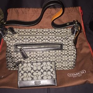 Coach Handbag w/ Coach Coin purse